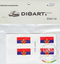 DioArt 1/35 Modern Serbia, Flags (8 Double Sided) #DIO-230