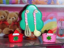 Rement Strawberry Cakes Utensil Holder fits Fisher Price Loving Family Dollhouse