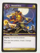 WoW: World of Warcraft Cards: SACRED DUTY 72/361 - played