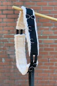 NEW NYLON LUNGING ROLLER WITH FAUX FUR BLACK ONE SIZE FULLY ADJUSTABLE SALE