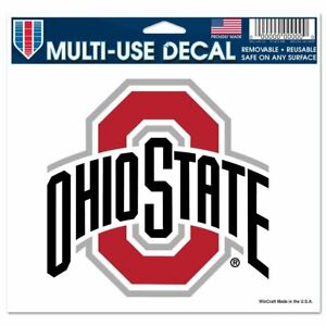 """NCAA Ohio State Buckeyes Decal 6"""" x 5"""" Multi-Use Window OSU Sticker Perfect Cut"""