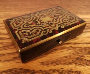 SIMPLY STUNNING & COLLECTIBLE VICTORIAN SEWING ETUI WITH BOULLE DECORATION c1875
