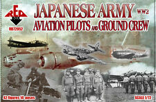 Red Box Models 1/72 WWII JAPANESE ARMY AVIATION PILOTS & GROUND CREW Figure Set