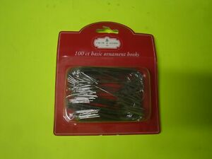 New 100 Counts Christmas tree holiday Ornament Hooks Silver Color