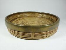 bambus messing tablett mid century design bamboo brass tray rattan wicker
