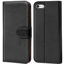 Book Case Apple iPhone 4 4S Hülle Klapphülle Handy Tasche Flip Cover Schwarz