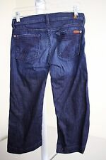 7 For All Mankind Crop Dojo Cotton Blend Stonewashed Cropped Jeans Size - 25