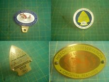 Vintage Lot 4 Antique Automobile Club Of America License Plate Topper
