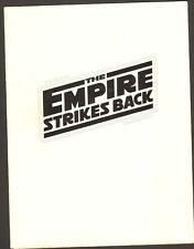 The Empire Strikes Back Press Screening Credits Program Lucasfilm Ltd 1980