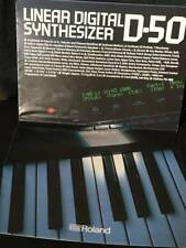 Roland D-50 Linear Digital Synthesizer Catalog 1987 Rare Vintage collection item