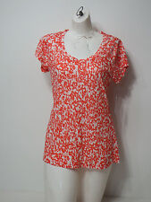 Chaus Sport shirt top Small Causual Short Sleeve Jungle Beat Items New Coral