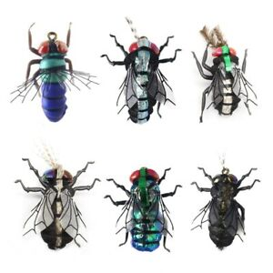 Fly Fishing Flies Set Mosquito Housefly Realistic Insect Lure For Trout