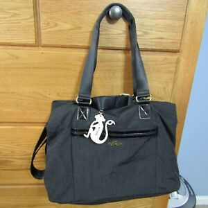 Kipling Tote Bag Satchel Purse Shoulder strap Hand bag BLACK