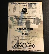 Vintage 1990s NYC Club Flyer: A+ Models w/ DOC MARTIN & ALEX @ TWILO NYC