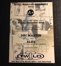 Vintage 1990s NYC Club Flyer: A+ Models w/ DOC MARTIN & ALEX @ TWILO NYC
