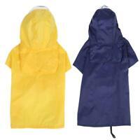 Pet Dog Rain Coat Clothes Puppy Jacket Hooded Waterproof Outdoor Raincoat