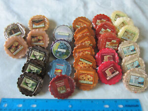 Large Lot of 28 Yankee Candle Wax Melts - Assorted Candy Flavors Style Tarts