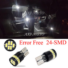 AUXITO 24SMD Error Free Super White T10 LED Light Bulbs 194 168 2825 175 W5W 192