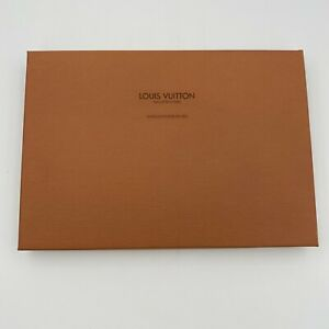 "Authentic Louis Vuitton Empty Orange Gift Box with Lid 14.25"" x 10"" x 1.5"""