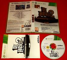 DJ HERO 2 XBOX 360 Versione Ufficiale Italiana 1ª Edizione ○ COMPLETO - FG