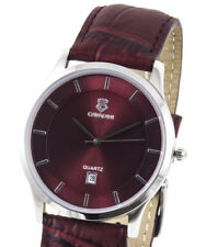 Business Cavadini Series Yukon Luxury Men's Watch Wine Red Collection 2018