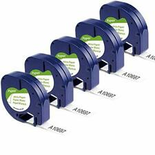 Aonomi Compatible Label Tape Replacement For Dymo Letratag Refills 91330 10697 S