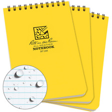 """Top Spiral Notebook Rite in the Rain 4"""" x 6"""" Yellow Cover 3 Pack"""