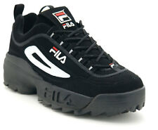 Fila FW04544-014:Kids/Women Disruptor II Black/White/Vintage Red Running Sneaker