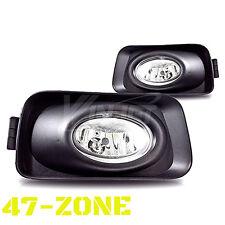 For 2003-2006 Acura TSX Clear Lens Chrome Housing Bumper Fog Lights Lamps Kit