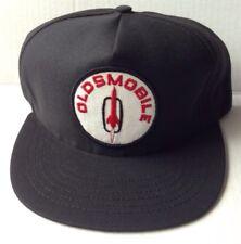 1970s 1980s OLDSMOBILE MOTOR COMPANY TRUCKER BASEBALL CAP HAT, BLACK, VINTAGE