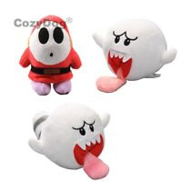 Super Mario Bros Plush Toys Shy Guy Boo Ghost Soft Stuffed Animal Doll Teddy