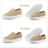 Women's Fashion Sneakers Perforated & Classic Slip On Flats Comfort Casual Shoes