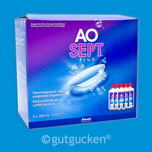 AoSept Plus 5 x 360ml Pflegemittel Peroxidlösung von Alcon