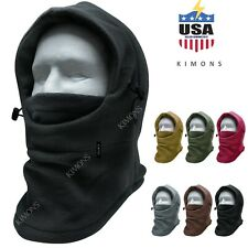 Balaclava Ski Mask 1 hole Full Face Beanie Winter Hat Cap Fleece Trapper Outdoor