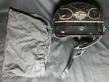 Harley Davidson Motorcycle Helmet Flames Sun Visor W/ Bag MEDIUM