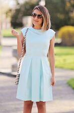 KATE SPADE NY VAIL Pleated Dress Paris Grace Blue Size 0 MSRP $428