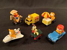 Complete Set Of 6 Vintage ERTL Garfield & Odie Toy Die Cast Figures Truck Car