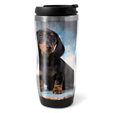 German Breed Dachshund Travel Mug Flask - 330ml Coffee Tea Kids Car Gift #16342