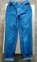 Vintage Orange Tab Levi's High Rise Tapered Leg Mom Jeans size 12 80s 90s