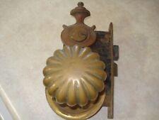 rare antique welch brass door lock hardware 1900s ?
