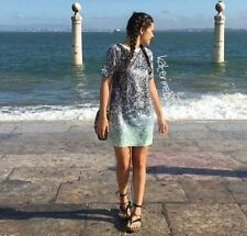 ZARA paillettes robe courte mini tye dye robe taille S Ref 2878 275