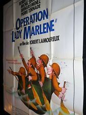 OPERATION LADY MARLENE Robert Lamoureux MICHEL SERRAULT affiche cinema 1975