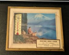 Vintage Advertising Manatawny Service Station Pottstown PA Thermometer Frame