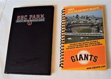 SAN FRANCISCO GIANTS Baseball SBC PARK 2004 Day Planner  Barry Bonds ~ Excellent