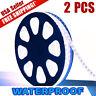 2X Super Bright Cool White 3528 SMD LED Waterproof Strip Light 300 LEDs DC 12V