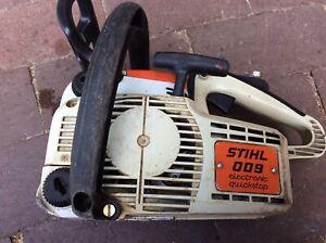 Stihl Motorsäge 009 Nostalgie mit Case / Koffer defekt als Ersatzteilträger