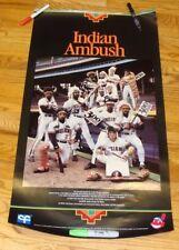 Early-mid 1980's Cleveland Indians Ambush! poster Franco,Snyder,Carter,Butler