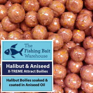 Halibut & Aniseed X-TREME Attract Glugged Boilies - PVA Friendly - Carp Fishing