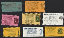 Local Courier Local Post Space Stamps (8) in Original Booklet - Only 45 Printed