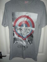 Marvel - Captain America Civil War - Mens T-Shirt - Grey - Sizes SMALL.